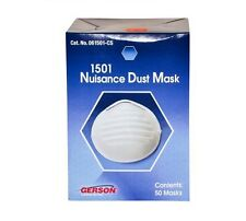 Gerson 1501 Disposable Nuisance Dust Mask (50/Box) 12 Boxes - MS92510