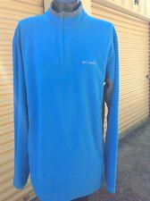 Mens Columbia Sportswear Half Zip Pullover Light Fleece material size Large
