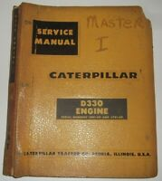 CAT CATERPILLAR D330 ENGINE SERVICE SHOP REPAIR BOOK MANUAL S/N 56B1-UP 57B1-UP