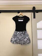 Iz Byer Girls Dress 8 Black White Short Sleeve Dress attached jacket Holiday