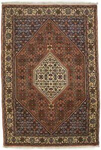 4X6 Vintage Style Orange Floral Bidjar Oriental Rug Handmade Wool Carpet 3'9X5'7