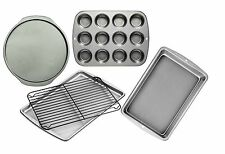 wilton bake nonstick 5PC bakeware set muffin cookie cake rack pizza