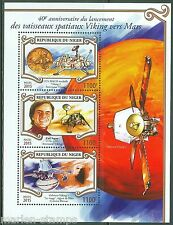 NIGER 2015 40th ANNIVERSARY THE LAUNCH OF THE VIKING MARS MISSION  SHT  MINT NH