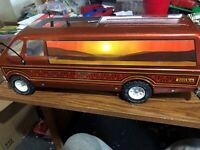 """Vintage 1970's Tonka Mighty Custom Skyline Van Pressed Steel 19"""""""