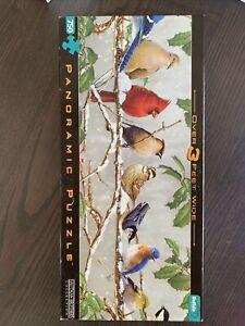 Buffalo Panoramic 'Winter Songbirds' Puzzle - 750 Pieces