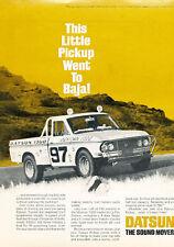 1969 DATSUN 1300 TRUCK  @  MEXICAN 1000 ~ ORIGINAL PRINT AD