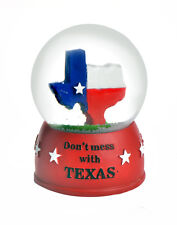 TEXAS SNOWDOME SNOW GLOBE - DONT MESS WITH TEXAS -NEW