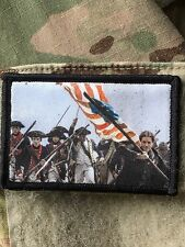 Revolutionary War Battle Flag Morale Patch Tactical Military USA Hook Badge Army