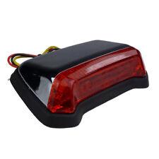 LED Motorrad flaches Fender Rücklicht Bremslicht Flatstyle chrom E geprüft