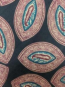 ROBERT TALBOTT BLACK RED TEAL DECO OVALS SILK NECKTIE TIE MFE0921A #B33