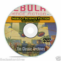 Nebula, 34 Vintage Pulp Magazine, out of this world science Fiction DVD CD C48