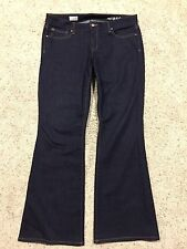 GAP 1969 CURVY Dark Wash JEANS size 32 (14) Inseam = 32.5 HARDLY WORN  F7