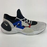 Nike Huarache Edge Men's Size 11.5 Black White Blue Running Low Athletic Shoes