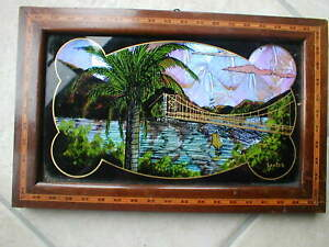 BRAZILIAN PICTURE  on BUTTERFLY WINGS  High quality including  inlaid frame