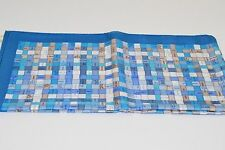 Hermes Scarf Bolduc Ribbon Turquoise Blues 100% Silk NEW Collector