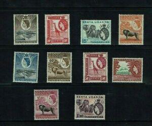 KUT: 1954, Queen Elizabeth II  definitive, short set to 1s 30c  Mint