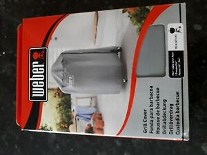 """Weber 18"""" 47cm Grey BBQ Grill Cover Breathable Water Resistant 7175.BRAND NEW"""