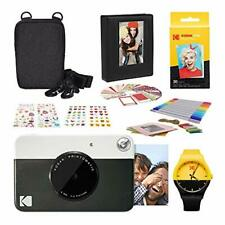 Kodak PRINTOMATIC Instant Print Camera (Black) Photography Scrapbook Kit