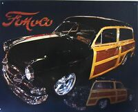 Ford Woodie Metal Sign