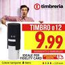 TIMBRO AUTOINCHIOSTRANTE AUTOMATICO ROTONDO Ø 12mm - IDEALE PER FIDELITY CARD
