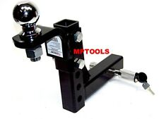 """10"""" Drop Hitch Mount 2"""" Receiver Adjustable  With 2-5/16"""" hitch ball & Pin Lock"""