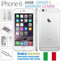 SMARTPHONE APPLE IPHONE 6 64GB RIGENERATO RICONDIZIONATO GRADO AA++ SBLOCCATO