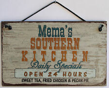 Mema s Sign Southern Kitchen Grandma Fried Country South Barbecue Cook ing Soul