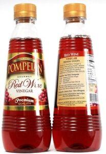 2 Ct Pompeian Gourmet Red Wine Vinegar Premium Quality 16oz BB 11-19-2021
