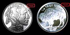 SILVER INDIAN HEAD BUFFALO  {UNC}  1/4  TROY OZ  .999  FINE SILVER BULLION ROUND