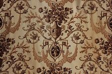 Fabric Antique Neoclassical design French toile curtain textile circa 1860