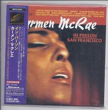 Carmen McRae en persona san francisco japón mini LP CD papersleeve Srcs 9394 New