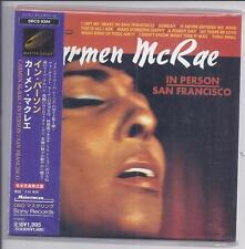 CARMEN McRAE In Person San Francisco JAPAN mini lp cd papersleeve SRCS 9394 NEW