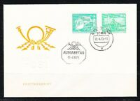 Germany DDR 1973 FDC cover Mi 1842-1843 Sc 1430-1431 Pelican & Neptune Fontain