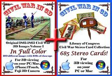 combo Civil War color stereoview SV Library of Congress stereocard stereograph