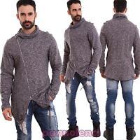 Maglione uomo giacca maniche lunghe zip lacci cotone collo alto TOOCOOL A-1104