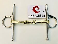 Full Cheek Curved Snaffle Bit German silver & stainless steel