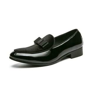 Mens British Low Top Business Faux Leather Leisure Shoes Oxfords Slip On Party