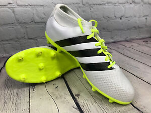 Adidas Womens Ace 16.3 PrimeMesh FG / AG Soccer Cleat White / Yellow Size 7