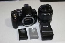 as-is Nikon D3000 10.2MP Digital SLR Camera Black Kit *AF-S DX VR 18-55mm Lens
