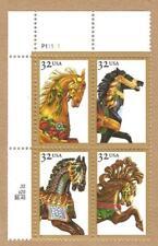 #2976-2979 - 32¢ Carousel Horses - Plate Block of 4 - MNH