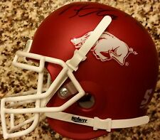 Trey Flowers Signed Mini Helmet Arkansas Razorbacks Auto Patriots Autograph COA