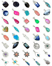 40 pcs Mixed Wholesale 925 Sterling Silver Pendants Jewelry XGP52