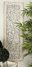 Decorative Tuscan Rustic Shabby Chic White-Washed Wood Wall Art Panel Plaque