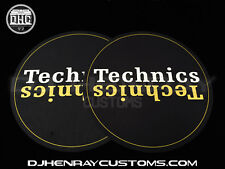 Technics Black, Gold & White Dj Slipmats sl1200mk2 mk5 m3d m5g or any turntable