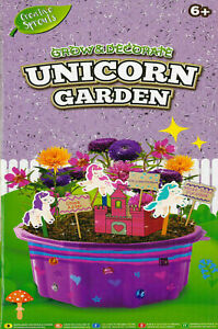 Grow And Decorate Your Own Unicorn Garden Planter Castle Craft Activity Kit Gift