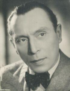 Autographe Dédicace ORIGINAL de l'Acteur LOUIS JOUVET sur Photo Portrait Rare