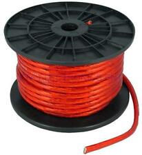 7FT 4GA 4AWG CCA Red Power Cable Wire Heat Resistance for Sound Car Audio AMP