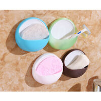 Suction Cup Soap Bathroom Shower Toothbrush Box Holder Accessories