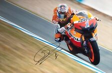 Casey Stoner Repsol Honda 18x12 Foto Firmada a Mano leyenda del MotoGP.
