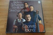 Quartetto ITALIANO Brahms Schumann String Quartets 3lp BOX PHILIPS 6703029